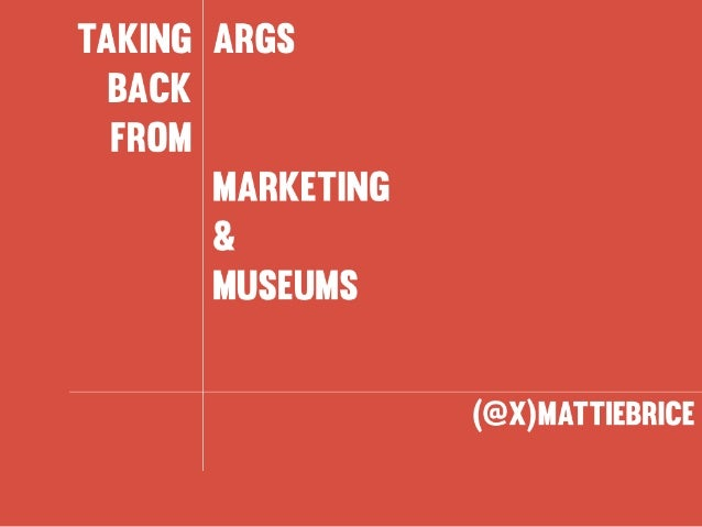 Taking ARGs Back from Marketing and Museums