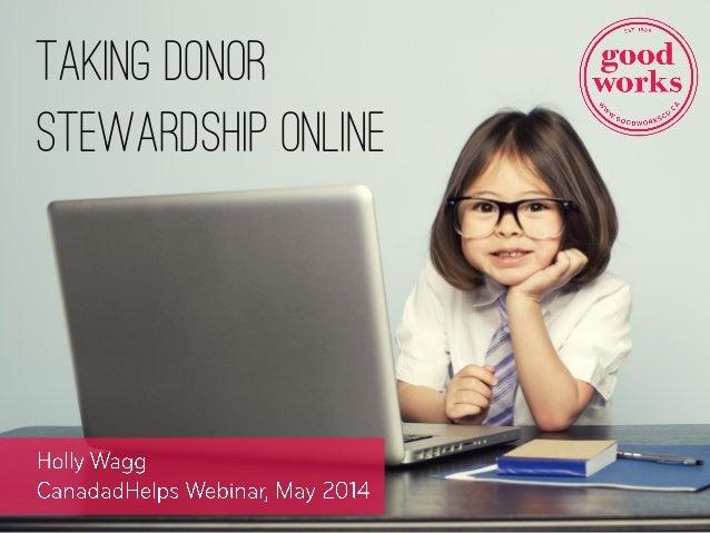 Taking Donor Stewardship Online