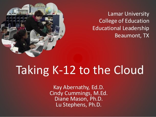 Taking k 12 to the cloud