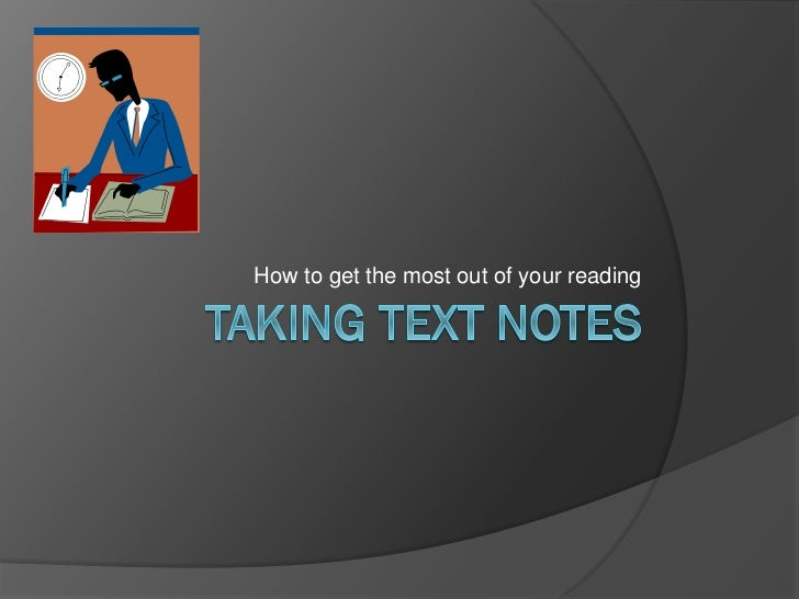 Taking text notes