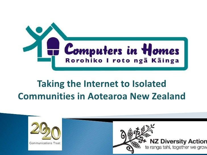 Taking the Internet to Isolated Communities in Aotearoa New Zealand<br />