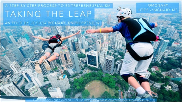 Taking the Leap: A step by step process to Entrepreneurialism