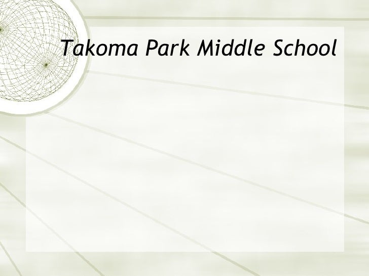 Takoma Park Middle School
