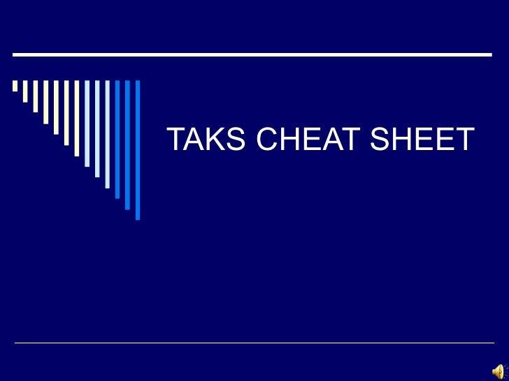 Taks cheat sheet rev
