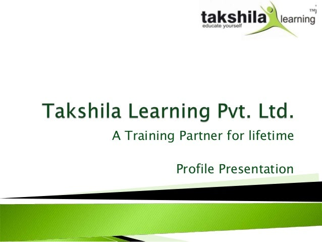 Takshilacorporate presentation