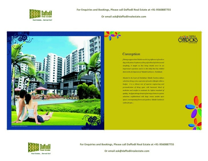 Taksila gardens by Piedmont in Sec-70, Faridabad - call 09560887755