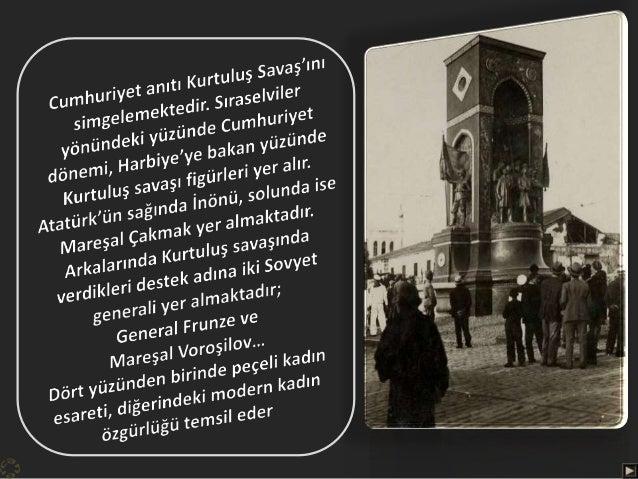 """Alanın adı """"Cumhuriyet alanı"""", anıtın adı """"Cumhuriyet anıtı"""" olarak belirlenmişti…"""