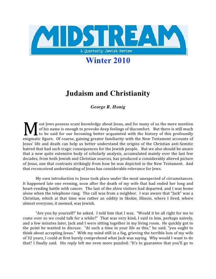 Winter 2010                               Judaism and Christianity                                              George R. ...
