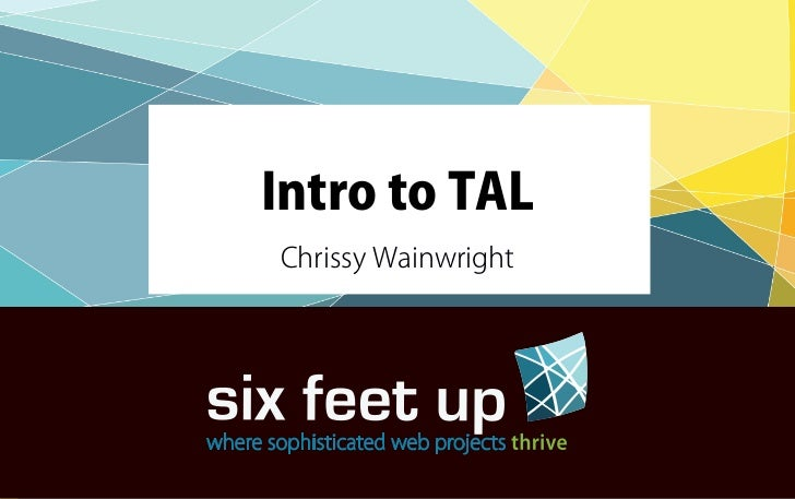 Intro to TAL
