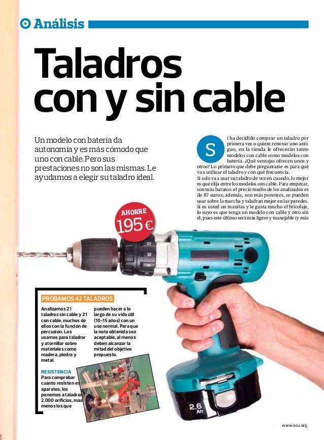Taladros con y sin cable 2 - Taladro sin cable ...