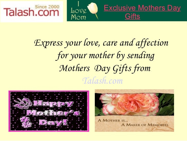 Express your love, care and affection  for your mother by sending  Mothers  Day Gifts from Talash.com Exclusive Mothers Da...
