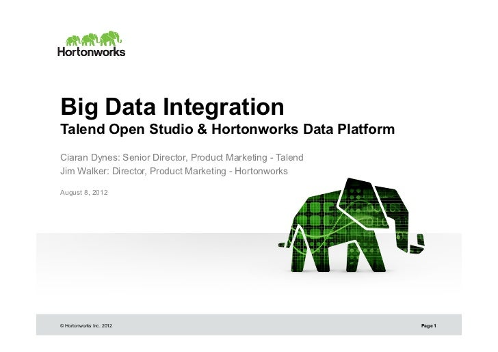 Talend Open Studio and Hortonworks Data Platform