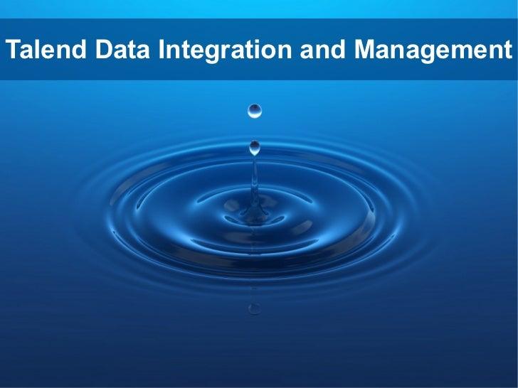Talend Data Integration and Management