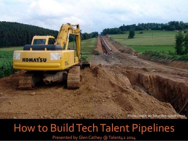 Photo credit: Xiaojun Deng http://bit.ly/1rEJbKj How to BuildTechTalent Pipelines Presented by Glen Cathey @Talent42 2014 ...