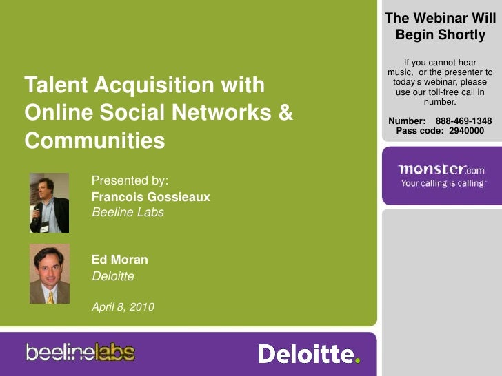 Talent Acquisition With Online Social Networks And Communities