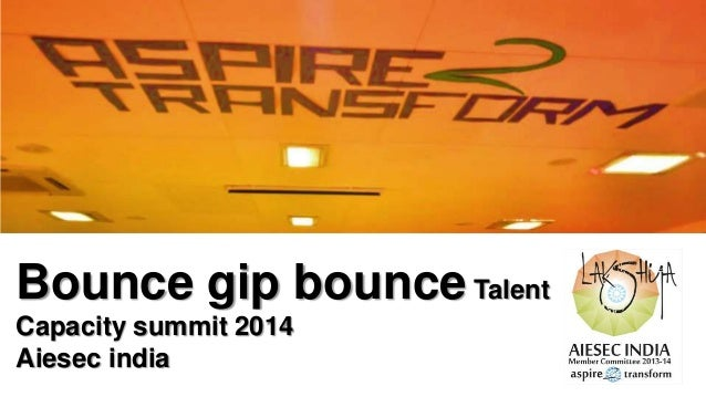 Bounce gip bounce Talent Capacity summit 2014 Aiesec india