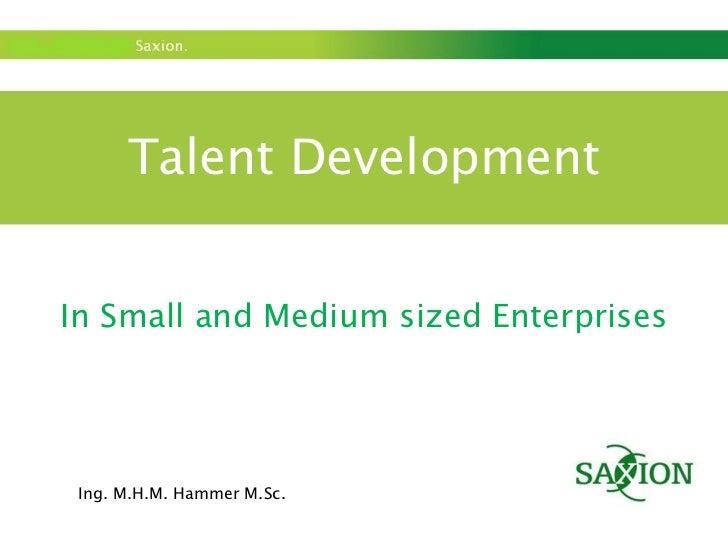 Talent develpment