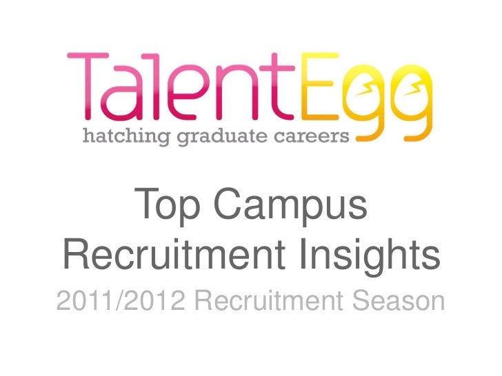 Top CampusRecruitment Insights2011/2012 Recruitment Season