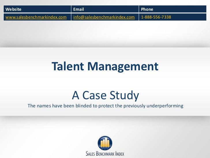 Talent Management-  A case study from a sales consulting firm.