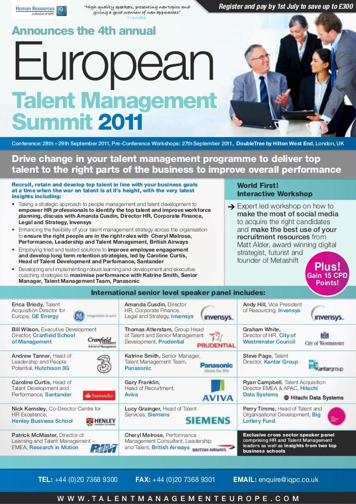European Talent Management Summit Conference