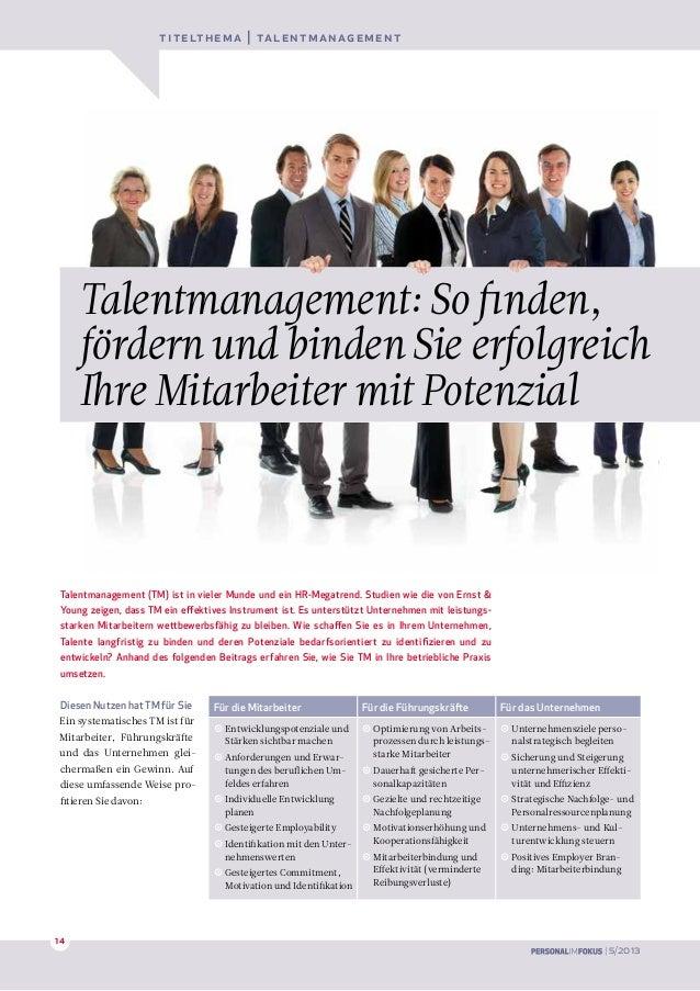Diesen Nutzen hat TM für SieEin systematisches TM ist fürMitarbeiter, Führungskräfteund das Unternehmen glei-chermaßen ein...