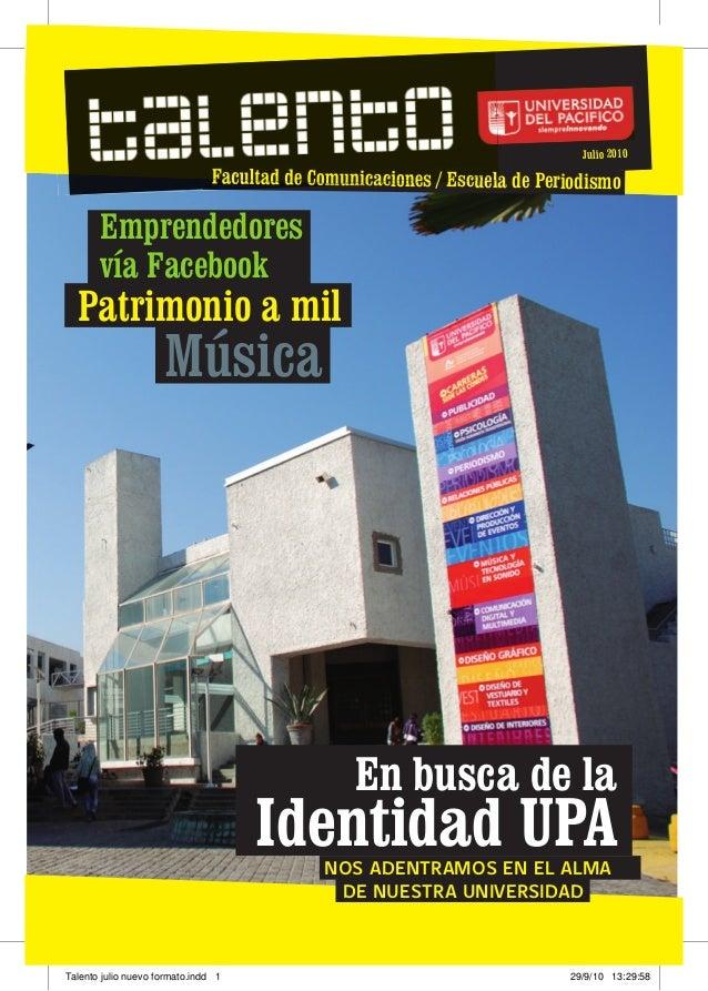 Revista Talento Julio