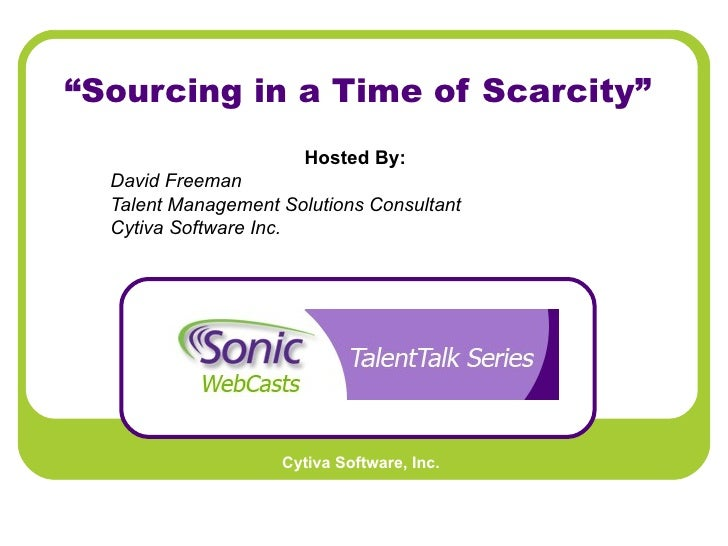 Talent Talk Webinar Sourcing In A Time Of Scarcity