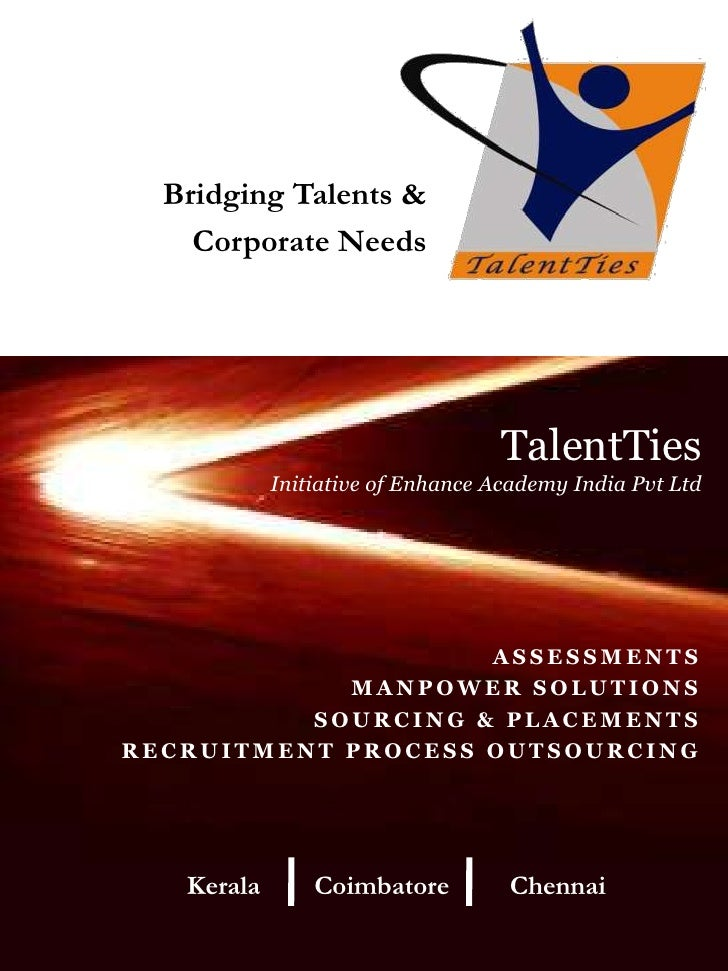 Bridging Talents &<br /> Corporate Needs<br />TalentTies Initiative of Enhance Academy India Pvt Ltd<br />ASSESSMENTS<br /...