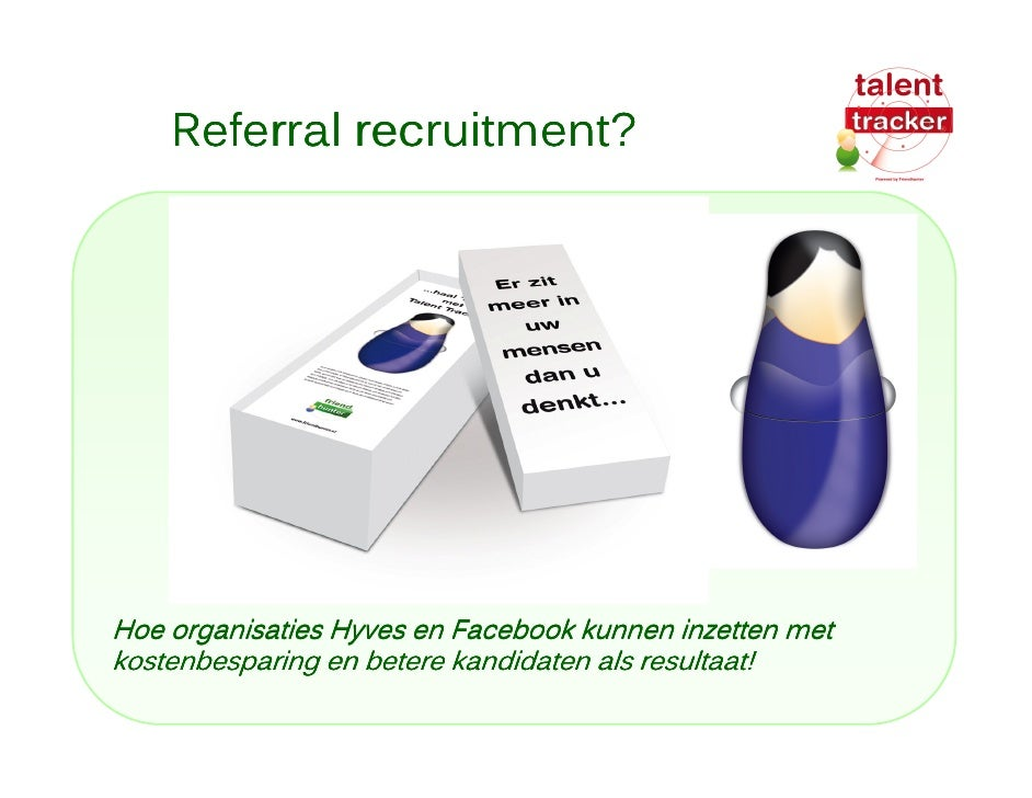 Werven in social media met TalentTracker
