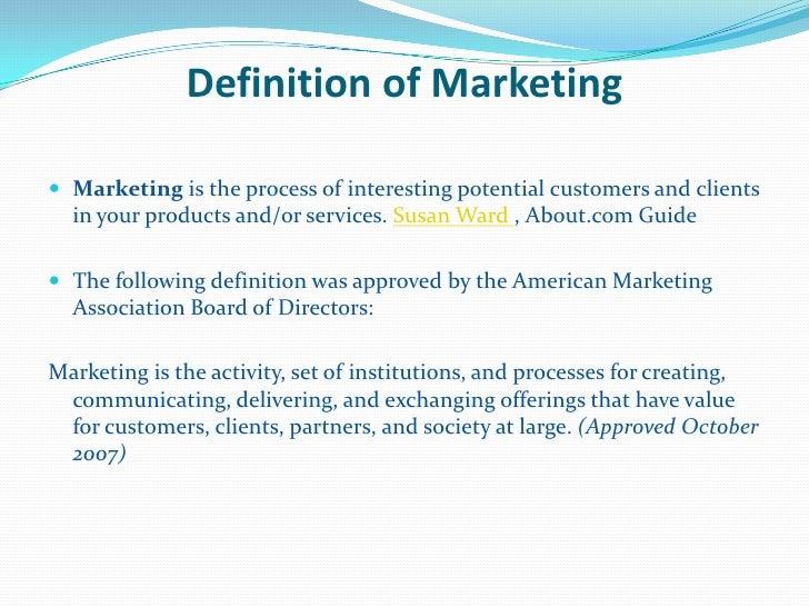 American marketing association definition of marketing