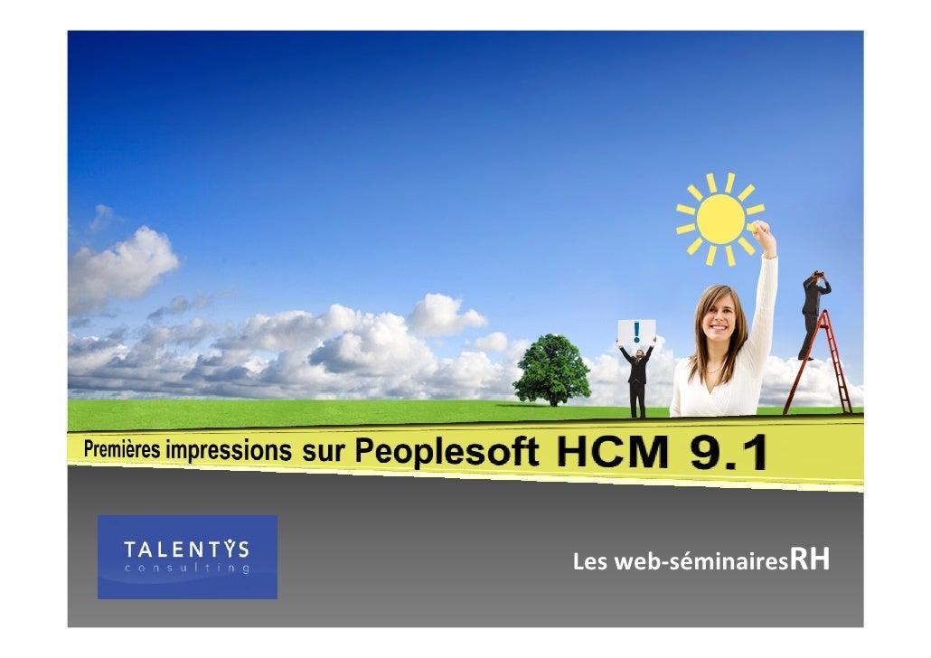 Talentys Webinar People Soft 9.1