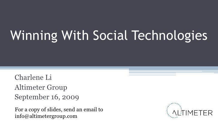 Taleo World: Winning With Social Technologies in HR