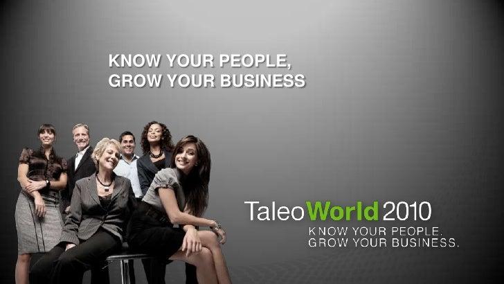 Taleo World 2010 Keynote