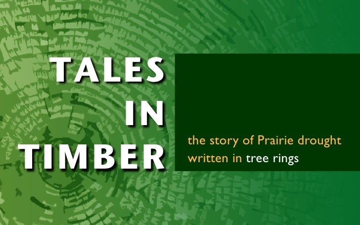 TALES      IN           the story of Prairie drought TIMBER    written in tree rings