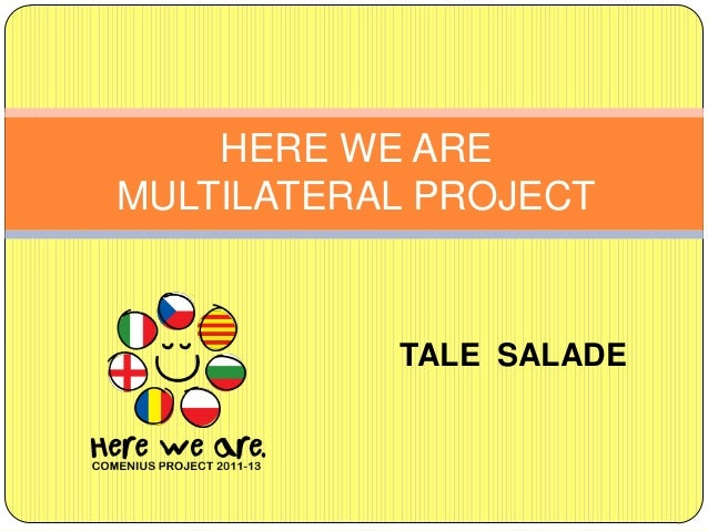 HERE WE AREMULTILATERAL PROJECT           TALE SALADE