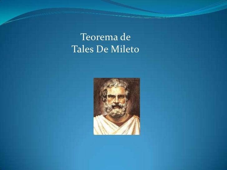 Teorema de Tales De Mileto<br />