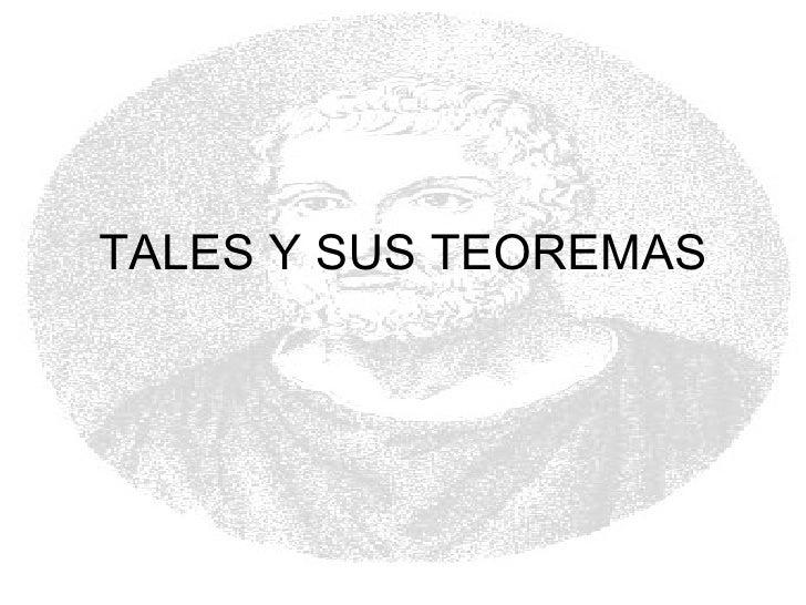 Tales y sus teoremas