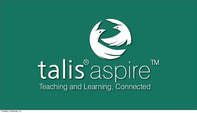 Talis aspire product update TAUG 2013 slides
