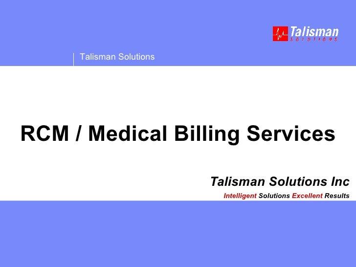 Talisman Medical Billing Services