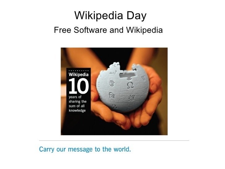 Wikipedia Day Free Software and Wikipedia
