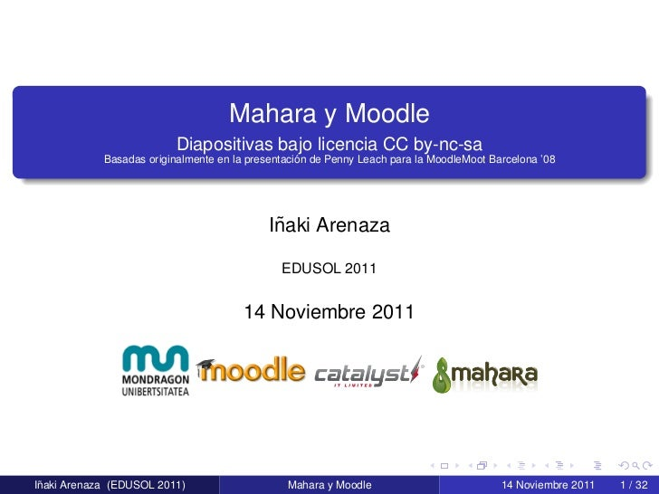 Mahara y Moodle - EDUSOL 2011