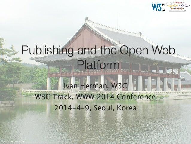 W3C and Digital Publishing