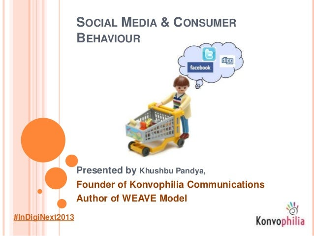 SOCIAL MEDIA & CONSUMER BEHAVIOUR Presented by Khushbu Pandya, Founder of Konvophilia Communications Author of WEAVE Model...