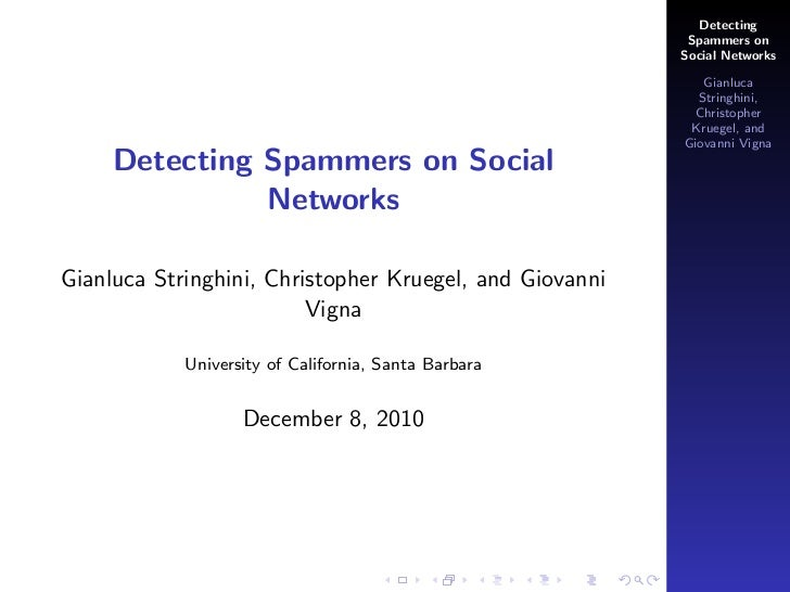 Detecting                                                          Spammers on                                            ...