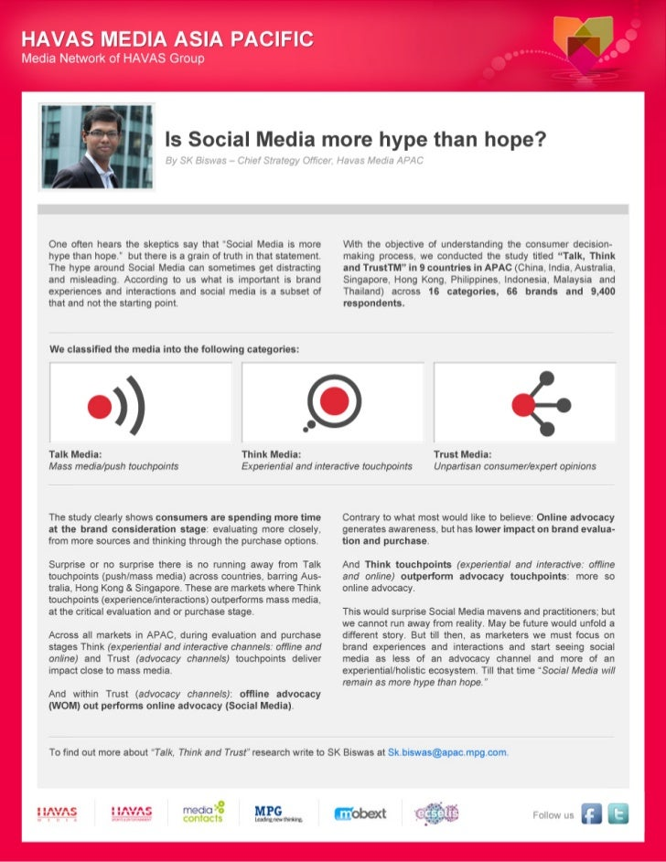[POV] - Is Social Media more Hype than Hope? by SK Biswas