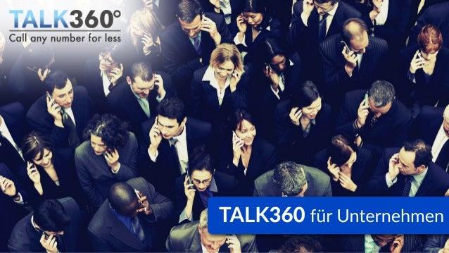 TALK360 für Unternehmen