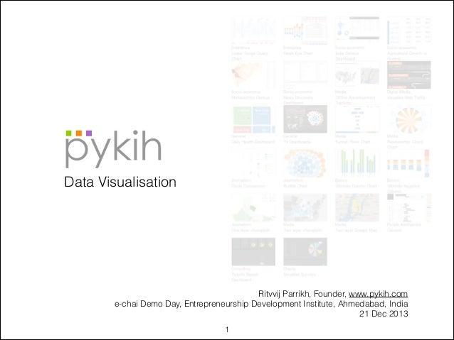 Data Visualisation  Ritvvij Parrikh, Founder, www.pykih.com e-chai Demo Day, Entrepreneurship Development Institute, Ahmed...