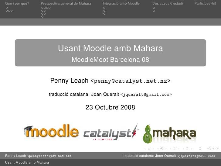 Presentació de Mahara en català