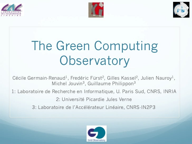 Green Computing Observatory