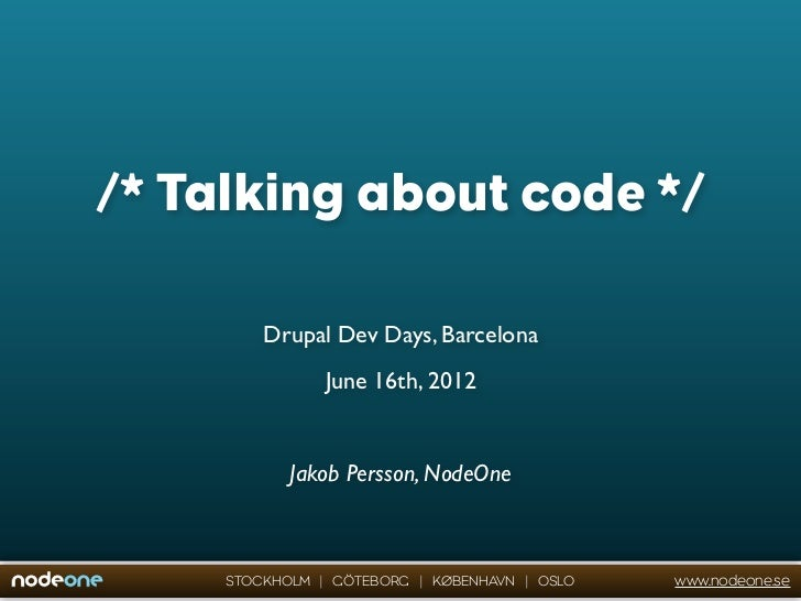 Talking about code